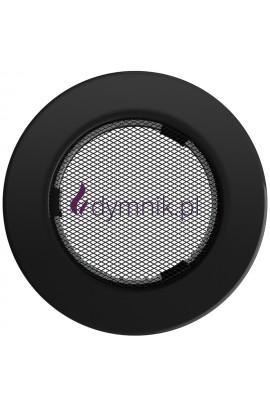 Kratka kominkowa okrągła (czarna)