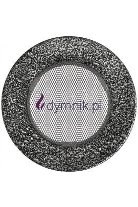 Kratka kominkowa okrągła (czarno-srebrna)