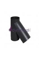 Trójnik 45° czarny 2 mm
