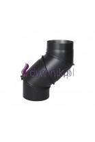Kolano uniwersalne czarne 2 mm z rewizją