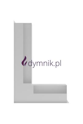 LUFT narożny lewy, kratka kominkowa (biała)