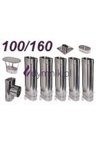 Wkład owalny żaroodporny 100/160