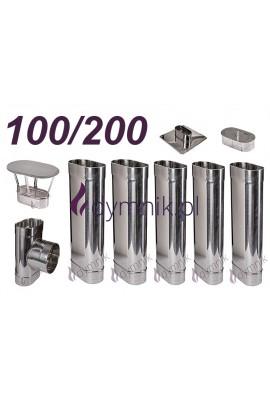 Wkład owalny żaroodporny 100/200