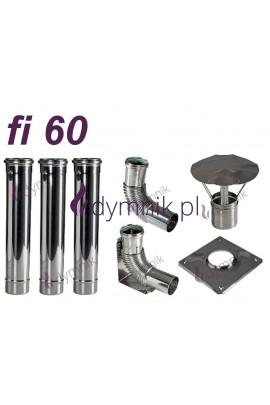 Wkład kondensacyjny Turbo jednościenny fi 60