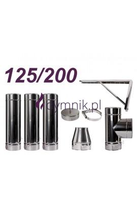 Komin izolowany kwasoodporny 125/200