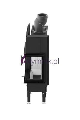 HST 7,6 kW Prawy Poziomy wkład kominkowy HST 59 X 43 R