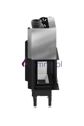 HST 12,2 kW Lewy Gilotyna Poziomy wkład kominkowy HST 59 X 43 LG