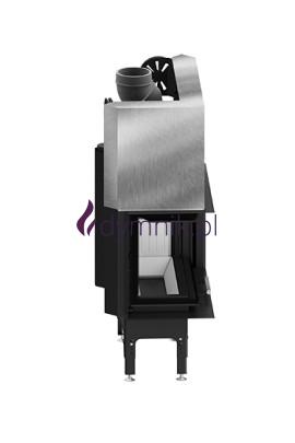 HST 13,2 kW Lewy Gilotyna Poziomy wkład kominkowy HST 68 X 43 LG