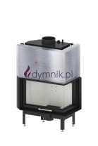 16 kW Prawy Gilotyna Poziomy wkład kominkowy z płaszczem wodnym ALAQS 68 x 43 RG