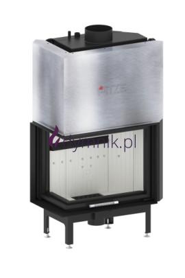 19 kW Lewy Gilotyna Poziomy wkład kominkowy z płaszczem wodnym ALAQS 68 x 53 LG
