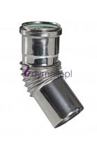 Kolano Turbo 45° kondensacyjne kwasoodporne
