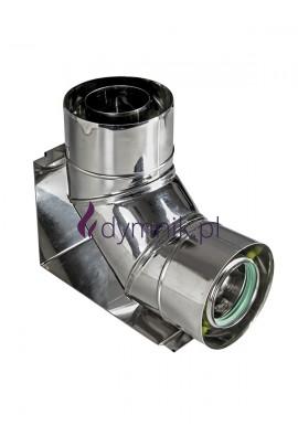 Kolano Turbo 90° z podstawą kondensacyjne kwasoodporne