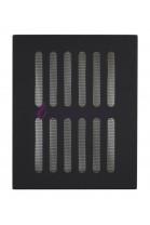 Kratka wentylacyjna z siatką (czarna)